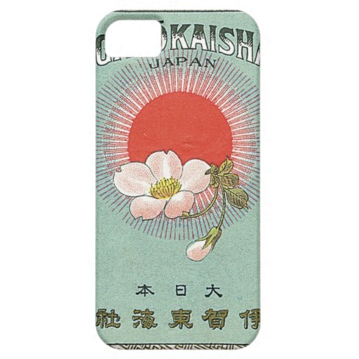 Vintage Japanese Silk Trade Card iPhone 5 Cases