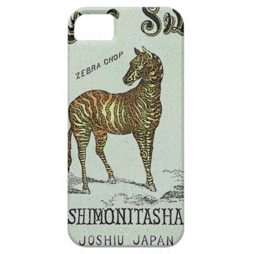 Vintage Japanese Silk Trade Card iPhone 5 Covers