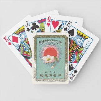 Vintage Japanese Silk Trade Card Bicycle Poker Deck