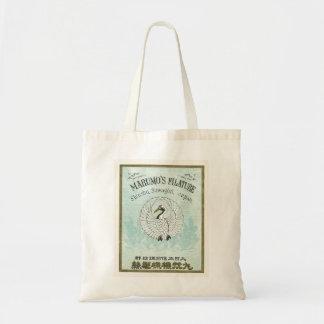 Vintage Japanese Silk Trade Card Tote Bag