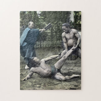 Vintage Japanese Sumo Traditional 相撲 Jigsaw Puzzle