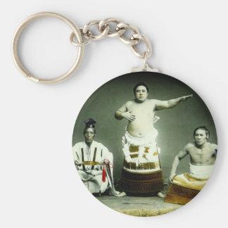 Vintage Japanese Sumo Wrestlers Old Japan Keychain