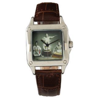 Vintage Japanese Sumo Wrestlers Old Japan Wristwatch
