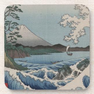Vintage Japanese The Sea of Satta Beverage Coaster