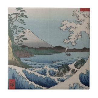 Vintage Japanese The Sea of Satta Ceramic Tile