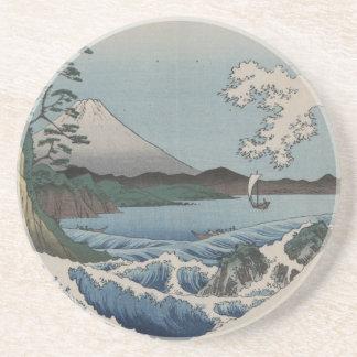 Vintage Japanese The Sea of Satta Beverage Coasters
