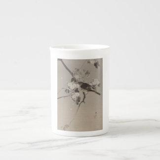 Vintage Japanese Ukiyo-e  Bird  Painting Tea Cup