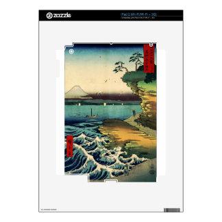 Vintage Japanese Ukiyo-e Mt. Fuji 房州保田ノ海岸 Skin For The iPad 2