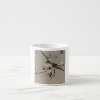 Vintage Japanese Ukiyo-e  Painting of A Bird Espresso Cup