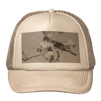 VIntage Japanese Ukiyo-e Painting of A Bird Trucker Hat