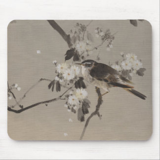 Vintage Japanese Ukiyo-e  Painting of A Bird Mouse Pad