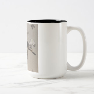 Vintage Japanese Ukiyo-e  Painting of A Bird Two-Tone Coffee Mug
