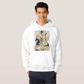 Vintage Japanese Warrior Print on a hoodie