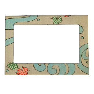 Vintage Japanese Water Magnetic Picture Frame