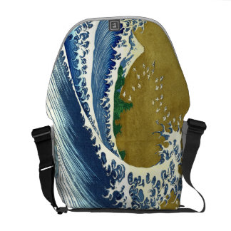 Vintage Japanese Wave Tsunami Messenger Bag