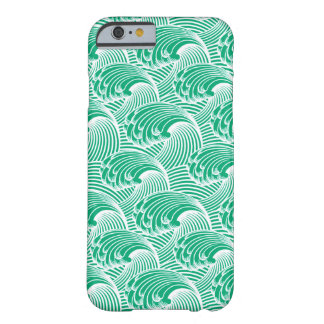 Vintage Japanese Waves, Jade Green and White Barely There iPhone 6 Case