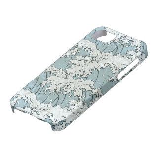 vintage japanese waves pattern iPhone 5 covers