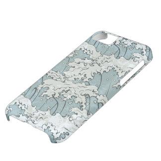 vintage japanese waves pattern iPhone 5C case