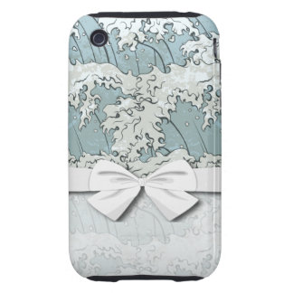 vintage japanese waves pattern tough iPhone 3 cases