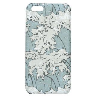 vintage japanese waves pattern iPhone 5C cases