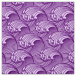 Vintage Japanese Waves, Twilight Purple and Lilac Fabric