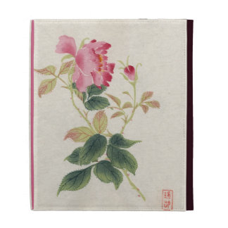 Vintage Japanese Wild Rose iPad Folio Cover
