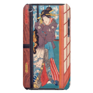 Vintage Japanese Woodblock Woman at Door iPod Case-Mate Case