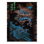 Vintage Japón del dragón de agua 2012 Postales