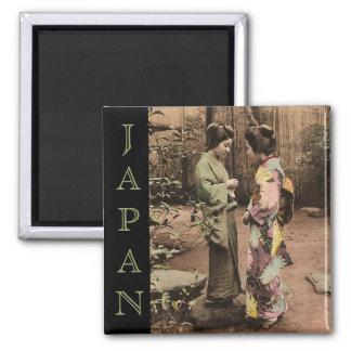 Vintage Japón Imán Cuadrado