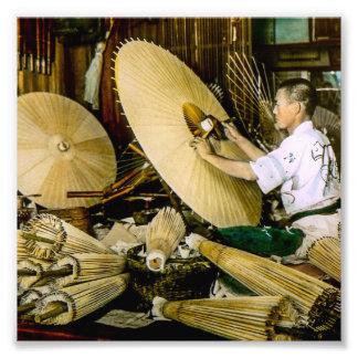 Vintage japonés Japón del fabricante del paraguas Cojinete