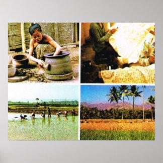 Vintage Java, Javanese lifestyle Print