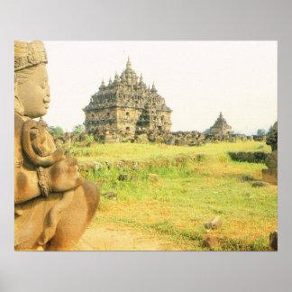 Vintage Java, Plaosan temple, near Prambanan Print