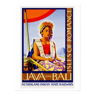 Vintage Java y Bali Indonesia por los Tarjetas Postales