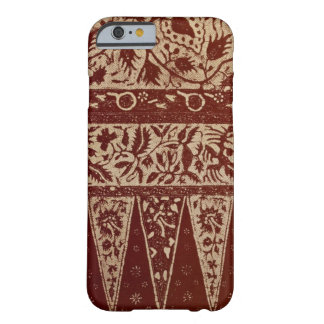 Vintage Javanese Batik Textile Wallpaper Pattern Barely There iPhone 6 Case