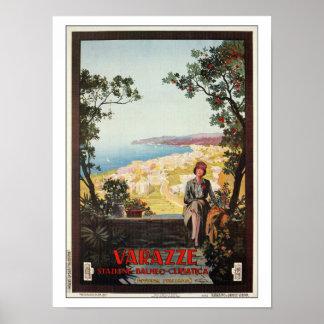 Vintage Jazz Age Varazze Italian travel poster