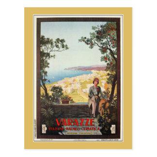 Vintage Jazz Age Varazze Italian travel poster Postcards