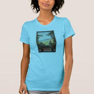 Vintage Jazz Age Varazze Italian travel poster T-Shirt