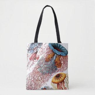 Vintage Jellyfish by Ernst Haeckel, Discomedusae Tote Bag