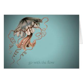 Vintage Jellyfish Card