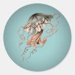 Vintage Jellyfish Classic Round Sticker