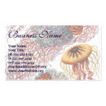Vintage Jellyfish, Discomedusae by Ernst Haeckel Business Card Templates