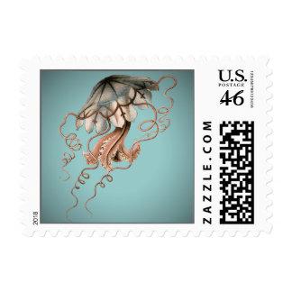 Vintage Jellyfish Stamp