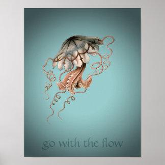 Vintage Jellyfish Poster