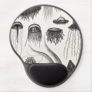 Vintage Jellyfish Species Retro Jelly Fish Gel Mouse Pad