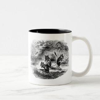 Vintage Jerboa Retro Rat Like Rodents Illustration Two-Tone Coffee Mug