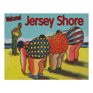 Vintage Jersey Shore Exercise Class Poster