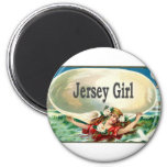 Vintage Jersey Shore Jersey Girl Refrigerator Magnet