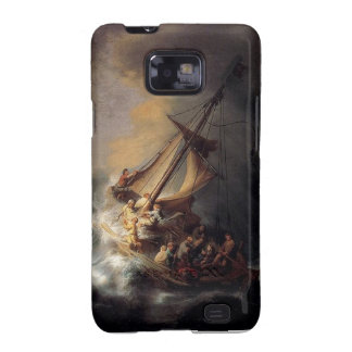 Vintage Jesus calming storm painting Samsung Galaxy S2 Covers