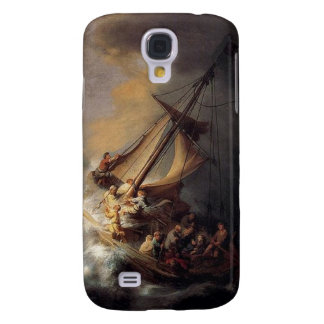Vintage Jesus calming storm painting Samsung Galaxy S4 Cases