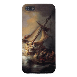 Vintage Jesus calming storm painting Case For iPhone SE/5/5s